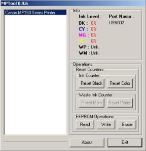MPTool Reset