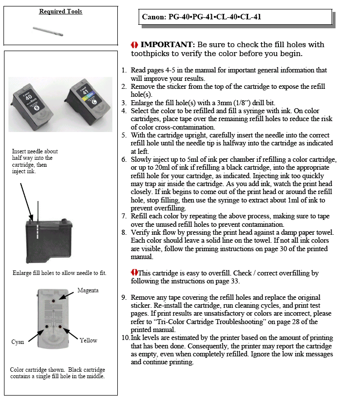 How To Refill The Canon MP150